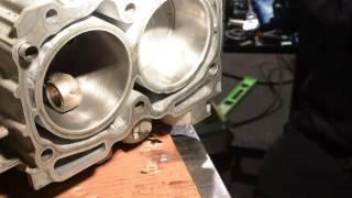Installing pistons in 2007 Subaru Impreza at Sorenson Automotive Inc