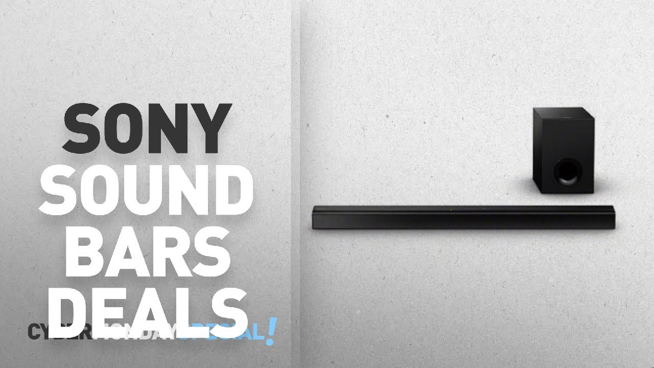 Top Cyber Monday Sony Sound Bars Deals Ht Ct80 2 1 Channel Bar With Subwoofer