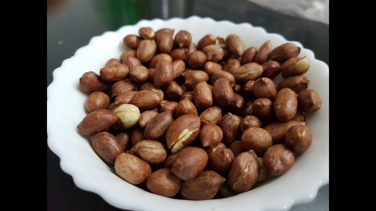 How To Make Roasted Peanuts In Microwave English Salted Without Oil