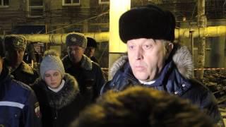 Губернатор Саратовской области Валерий Радаев на месте взрыва бытового газа в Саратове
