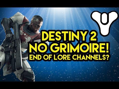 Destiny 2 End of Lore Channels?