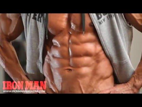 TJ Hoban Iron Man Magazine Workout Photo Shoot