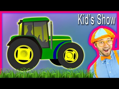 Thumbnail: Farm Vehicles and Tractors Kids' Show – Children's Song and How to Draw a Tractor