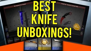 CS GO - Top 5 Most Expensive Knife Unboxing Videos!