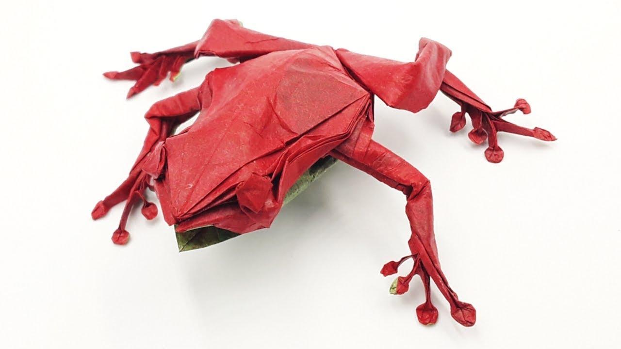 Origami jumping Frog - Yakomoga Origami tutorial - YouTube | 720x1280
