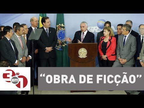 """Presidente Michel Temer diz que denúncia da PGR é """"obra de ficção"""""""
