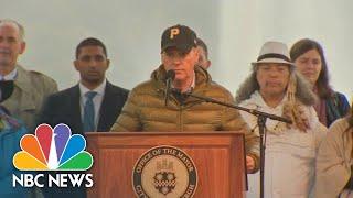 Tom Hanks, Michael Keaton Honor Synagogue Shooting Victims At Pittsburgh Vigil | NBC News