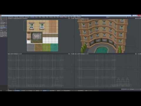 Texturing game assets in Lightwave 3d