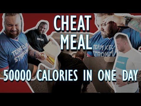 CHEAT MEAL DAY! 50,000 CALORIES!   THE MOUNTAIN