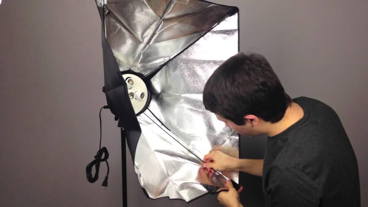 How to Set Up Softbox Lighting Kit Fancierstudio  YouTube