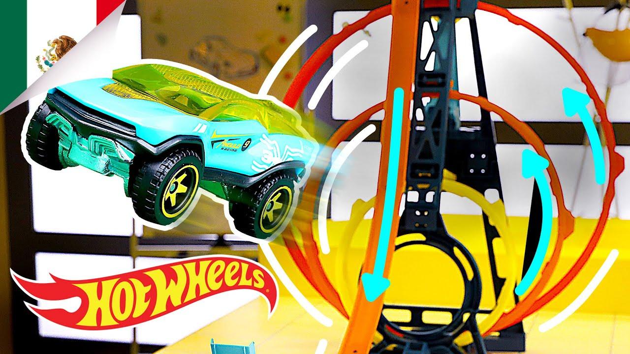 ¡RETO TRIPLE LOOP!   Labs Unlimited   Hot Wheels Español