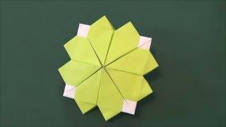 1枚で出来る「クローバー」折り紙