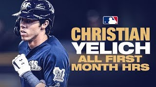 All 14 of Christian Yelich's First Month Home Runs