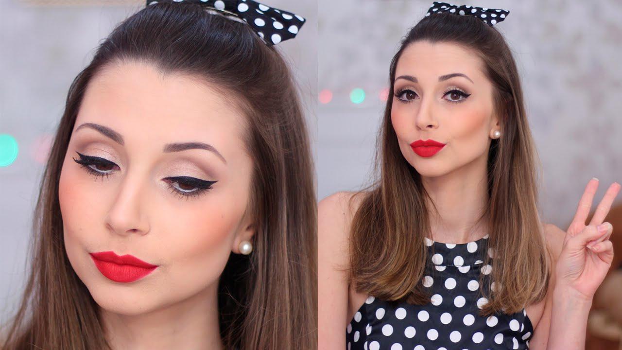 Maquiagem Pin Up Anos 60 Jana Taffarel Youtube
