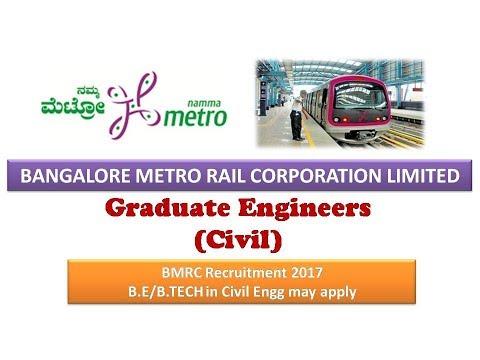80 Graduate Engineer (Civil) | BMRC Recruitment 2017 | No GATE Score