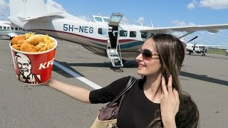 KFC Delivery By A Private Plane !!!