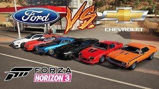 BATALHA ÉPICA ENTRE FORD VS CHEVROLET - FORZA HORIZON 3