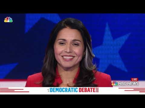Democratic Debate: Tulsi Gabbard Explains Previous Stances on Gay Rights