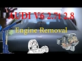 Audi 2.7t v6 Engine Extraction - S4/A6 - Part 2 of 2