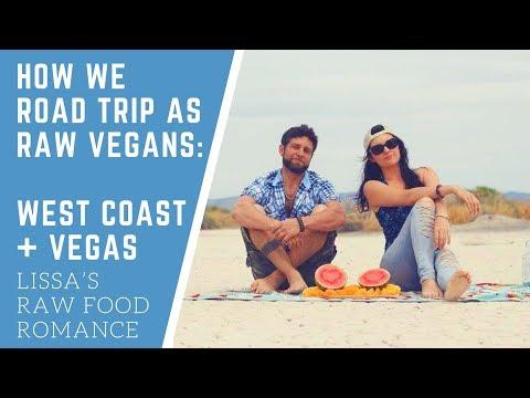 HOW WE ROAD TRIP TRAVEL AS RAW FOOD VEGANS || CALIFORNIA COAST + LAS VEGAS