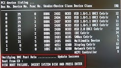 Disk Boot Failure Insert System Disk And Press Enter(FIX IT)