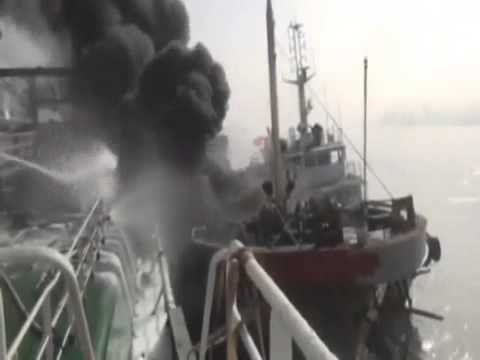 Deadly oil tanker explosion in China  Massive oil leak after ball of fire rips through tanker