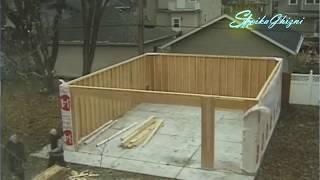 Строительство гаража TimeLapse