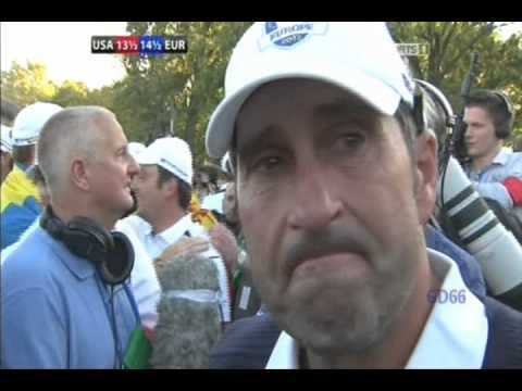 José Maria Olazábal Emotional Interview After Europe Win 2012 Ryder Cup