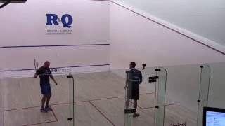 Bermuda R&Q Legends of Squash 2016 David Palmer vs John White G1