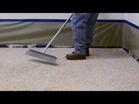 How to Apply Colored Epoxy Flake Floor System - Garage and Commercial Floors