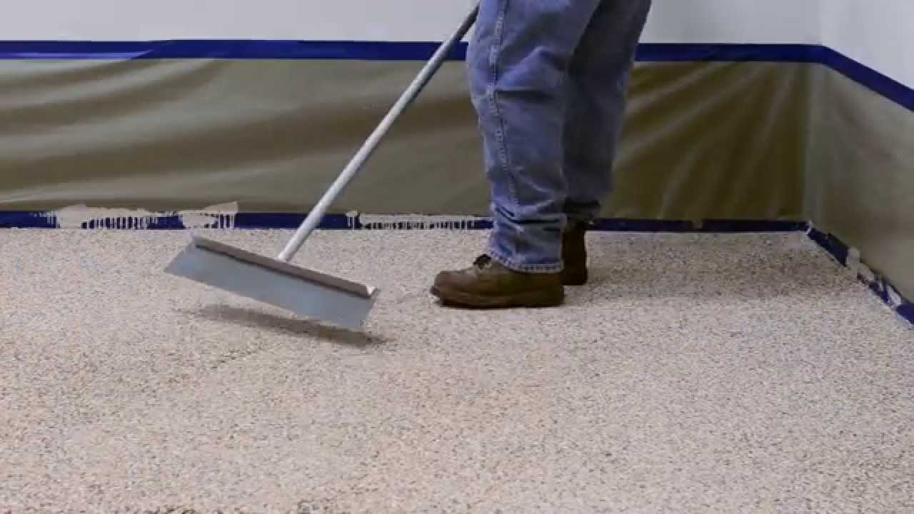 How To Apply Colored Epoxy Flake Floor System   Garage And Commercial Floors    YouTube