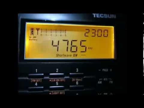 4765 Khz, Radio Tajikistan, start of programme