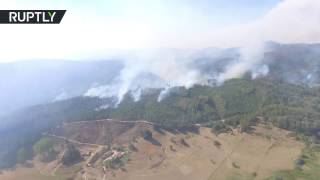 Самолёт Ил 76 МЧС России начал тушить природные пожары в Чили