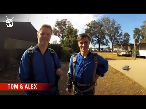 Tom & Alex jump out of a plane!