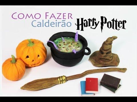 caldeirão de bruxa biscuit Cauldron potion ingredients miniature harry potter clay
