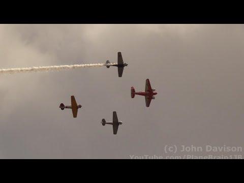 2017 Wings Over Houston Air Show - World War II Trainer Flight