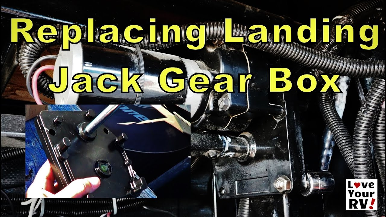 Replacing My Fifth Wheel Landing Jacks Gear Box Youtube Electric Tongue Jack Wiring