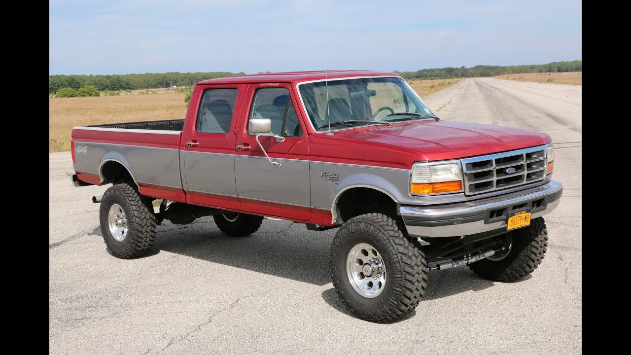 Sold lifted 1997 ford f350 crew cab for sale7 3l dieselnew 6 lift37 tiresorig body panels