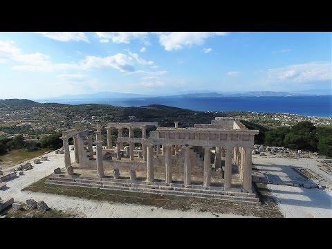 Temple Of Aphaea In Aegina Island, Greece
