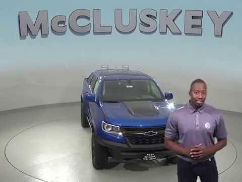 190274 New 2019 Chevrolet Colorado Zr2 4wd Crew Cab Blue Test Drive