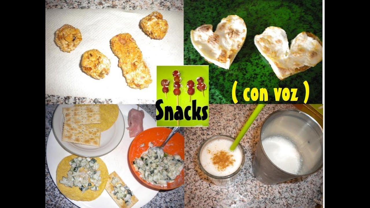 Snacks saludables para la escuela, trabajo o entre comidas