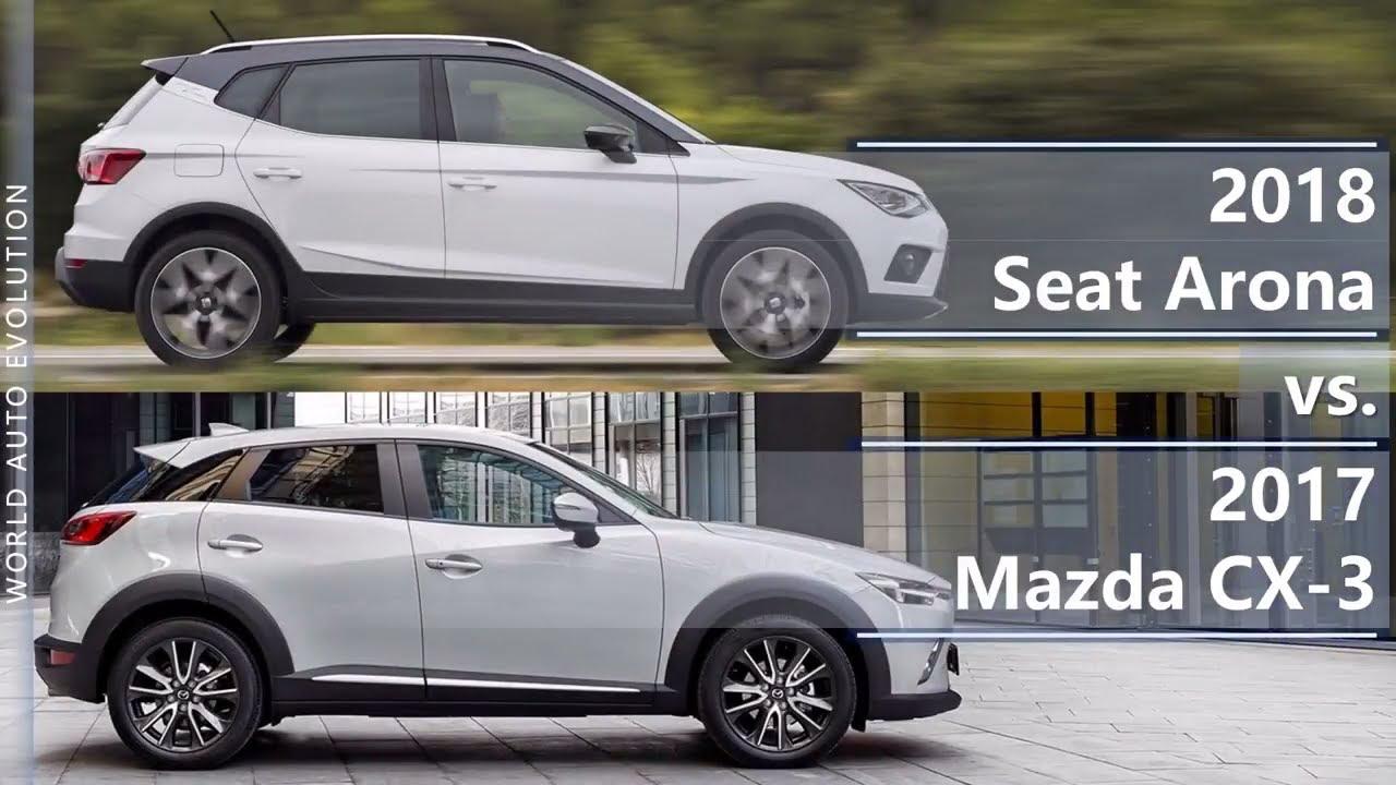 2018 seat arona vs 2017 mazda cx 3 technical comparison youtube. Black Bedroom Furniture Sets. Home Design Ideas
