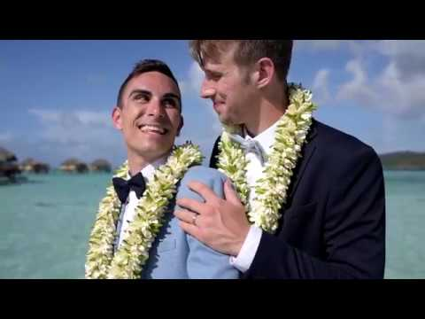 The Perfect French Polynesian Gay Wedding (Craig And Luke) - Le Taha'a Island Resort And Spa