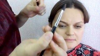 моделирование бровей. Школа макияжа Энергодар