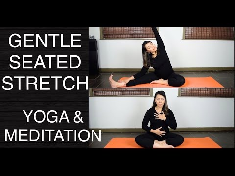Gentle Yoga Seated Poses, Stretches, and Meditation 20 Minutes
