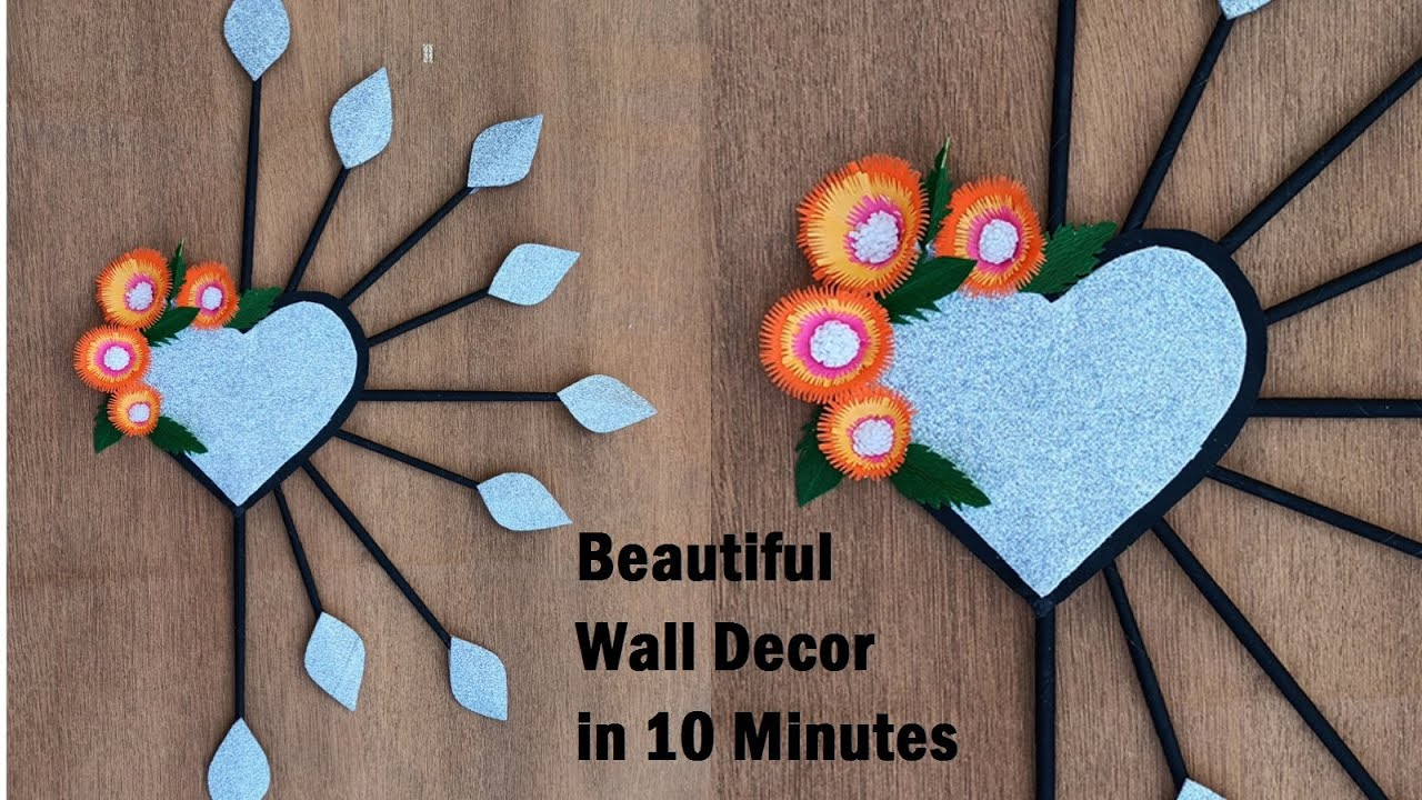 Wall Hanging | Paper flower Craft Wall Hanging Very Easy Wall Decoration | Wall Decor Ideas