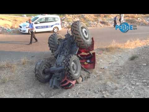 Traktör Devrildi 1 Kişi Yaralandı