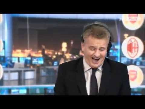 Sky Sports Charlie Nicholas Goes Crazy - Arsenal 3-0 AC Milan - Very Funny!