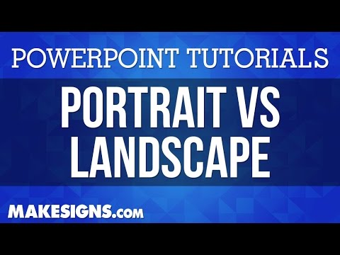 portrait vs landscape in your powerpoint poster presentations youtube