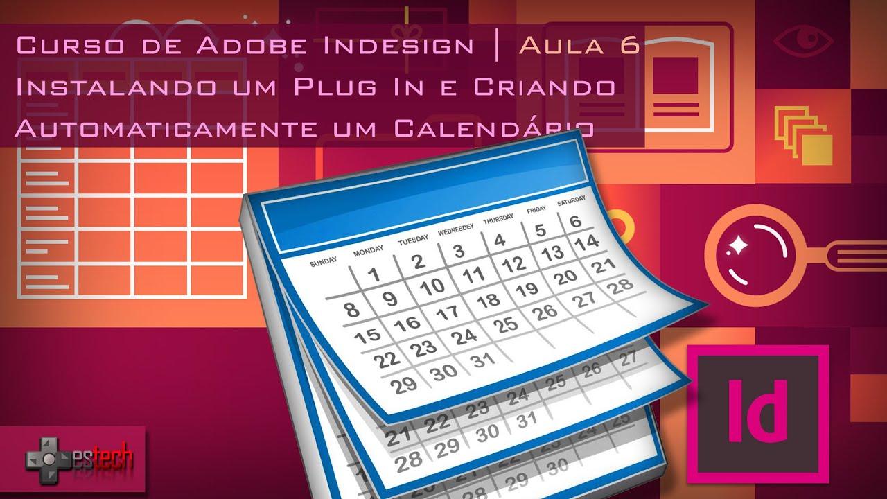 Calendario Indesign.Indesign Criando Calendario E Instalando Plugin